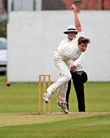 Macclesfield bowler Tom Key