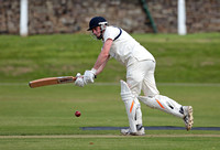 Macclesfield opening batsman Rob Porter plays the ball to the leg side