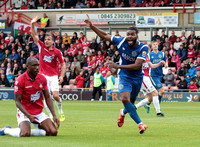 Tyrone Marsh celebrates but the goal was disallowed